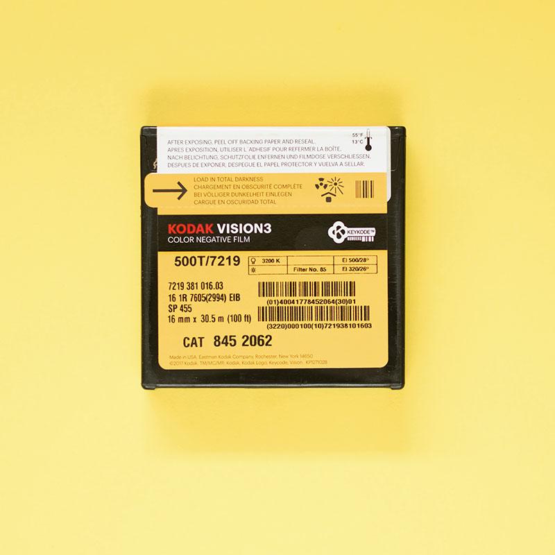 Kodak Vision3 500T 7219 Colour Negative 16mm Film 30 5m