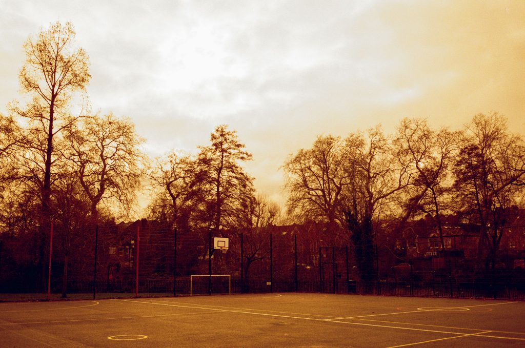 Here is our Redscale Kodak ColorPlus 200 Film Review. Basketball Court