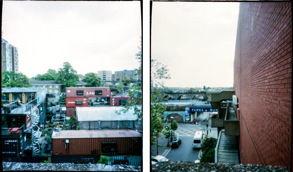 View from International House, Brixton. Kodak Portra 160 Pinhole
