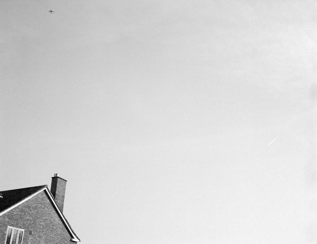 black and white film House Plane Champion Hill