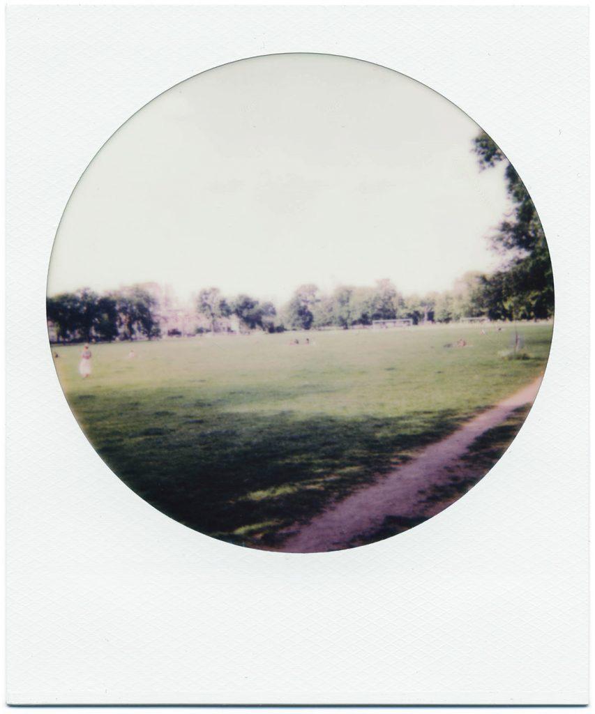 Ruskin Park, South London. Polaroid 600 Color Round Frame Editions.
