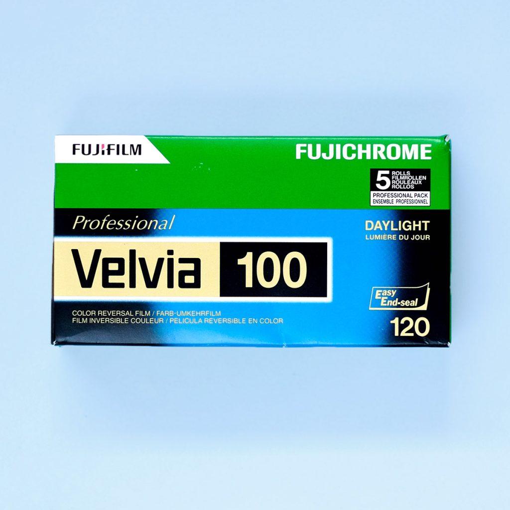 Transparency Film - Fuji Velvia 100 120 5 Pack