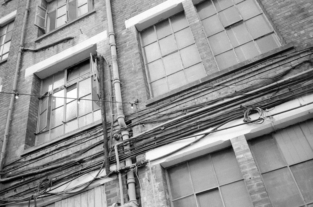 Windows Peckham shot on a Yashica T4